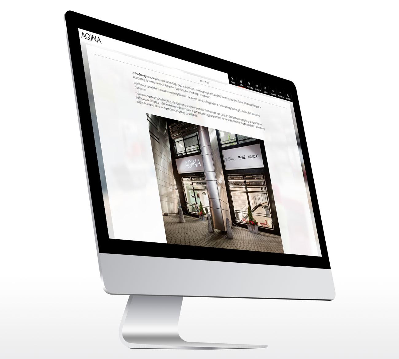 Aqina - nowa strona internetowa
