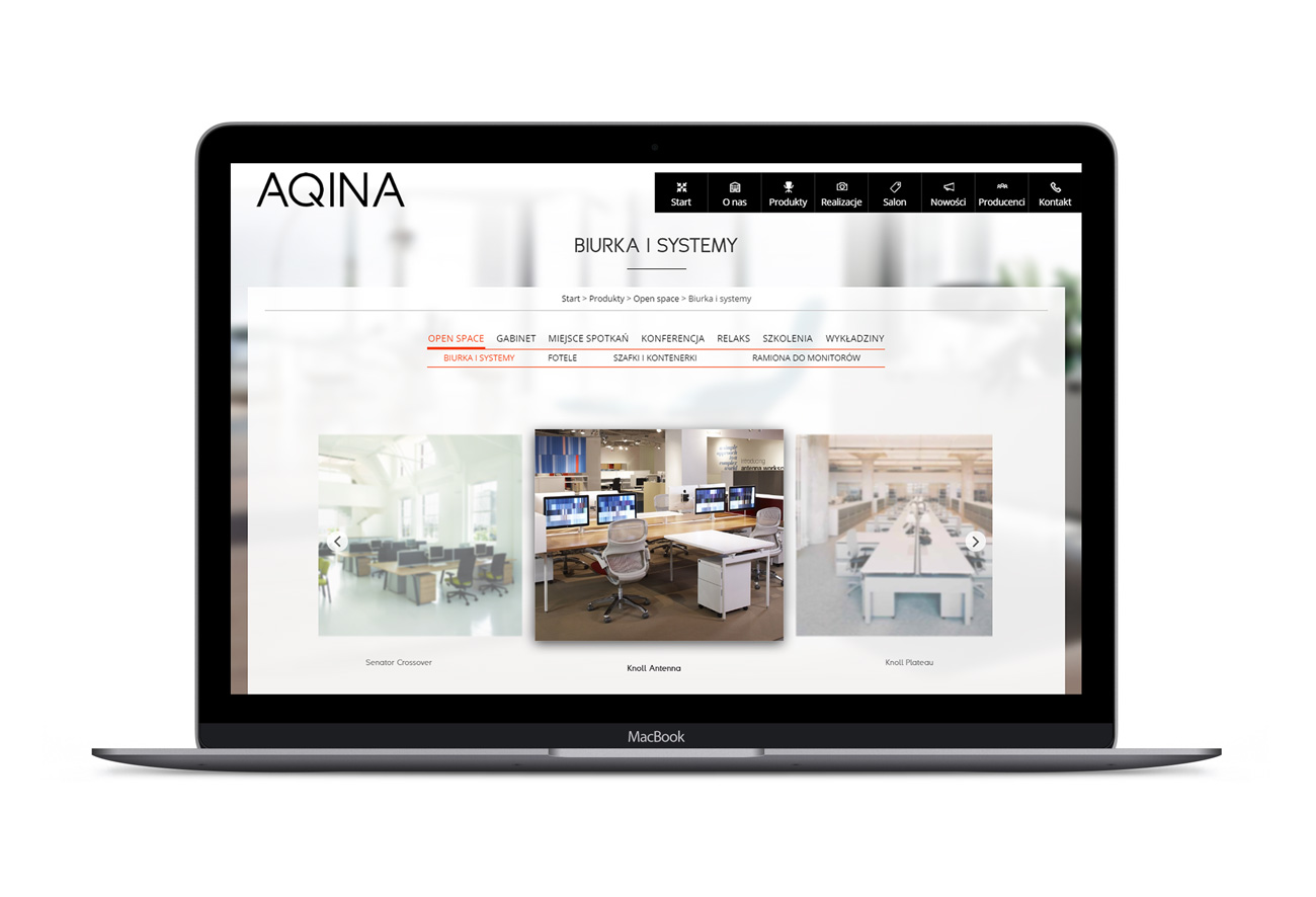 Aqina - responsywna nowoczesna minimalistyczna strona internetowa