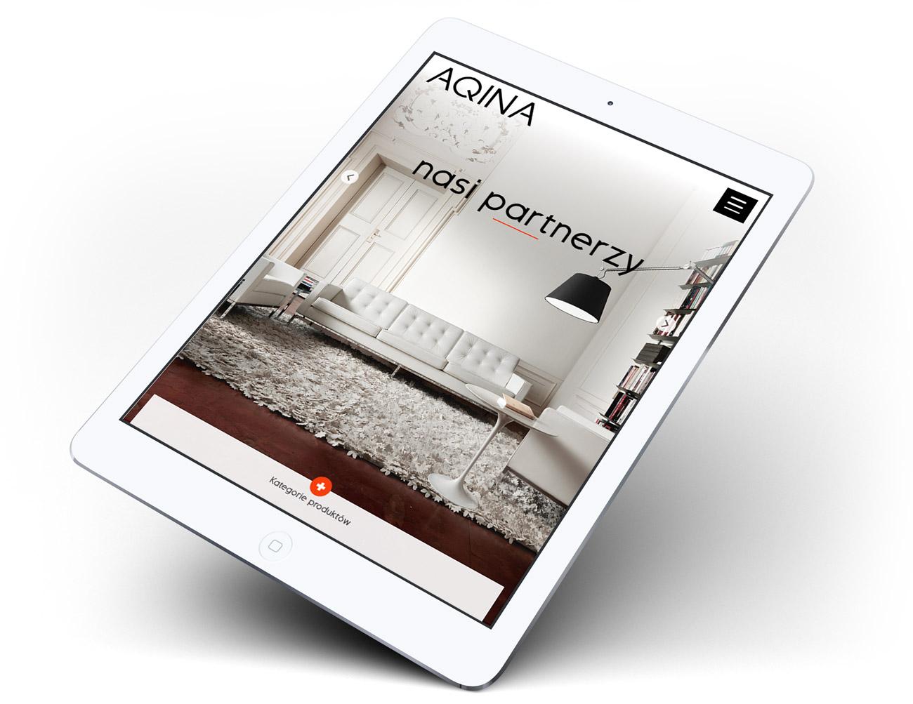 Aqina - projekt strony internetowej zgodnej z RWD, Retina, HTML 5, CSS 3 na WordPressie
