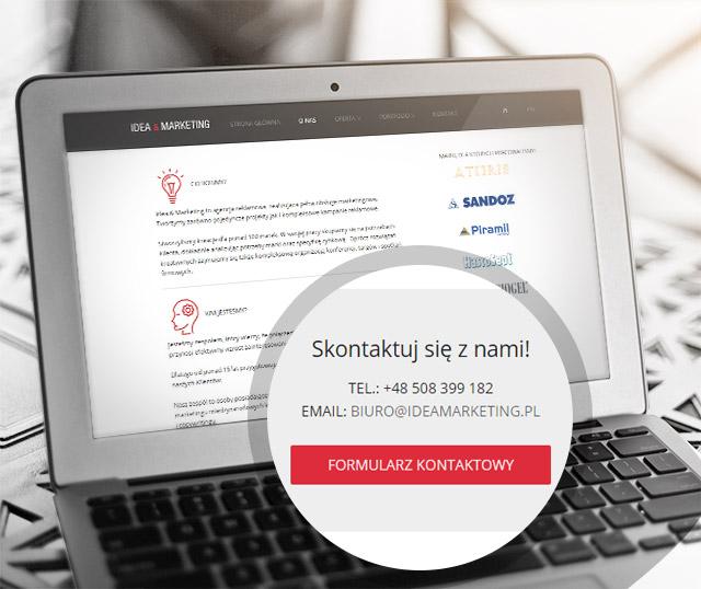Idea & Marketing - wizualizacja strony internetowej