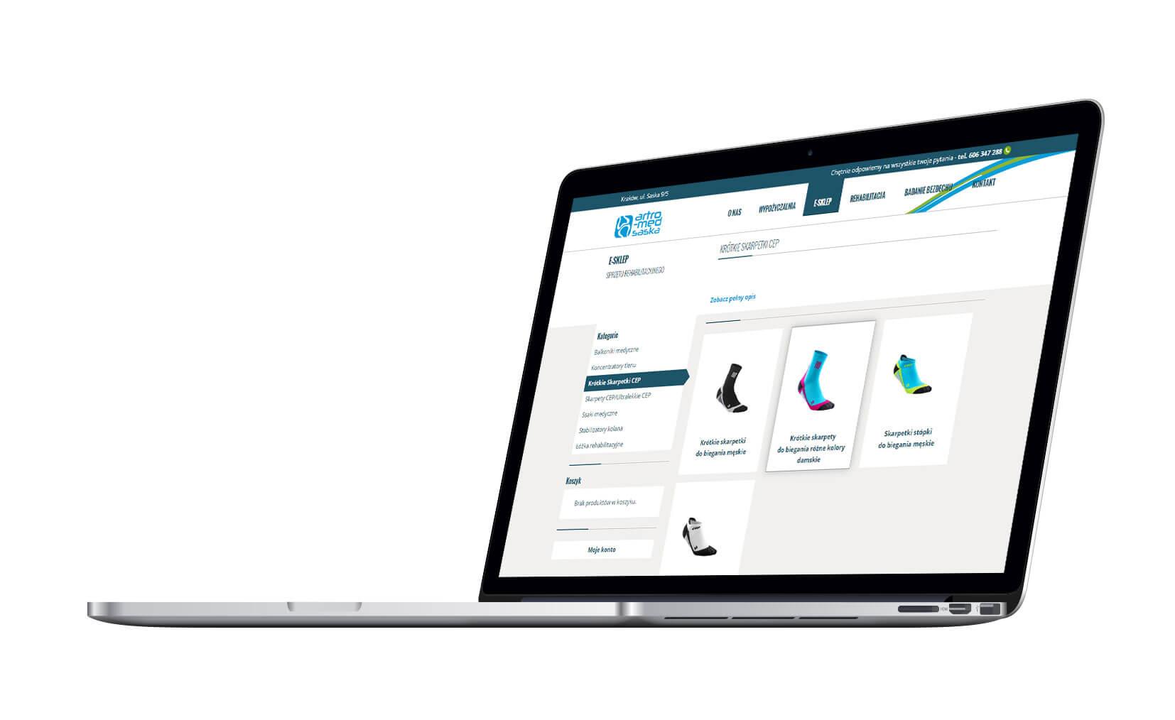 Sklep internetowy - wersja na laptopie