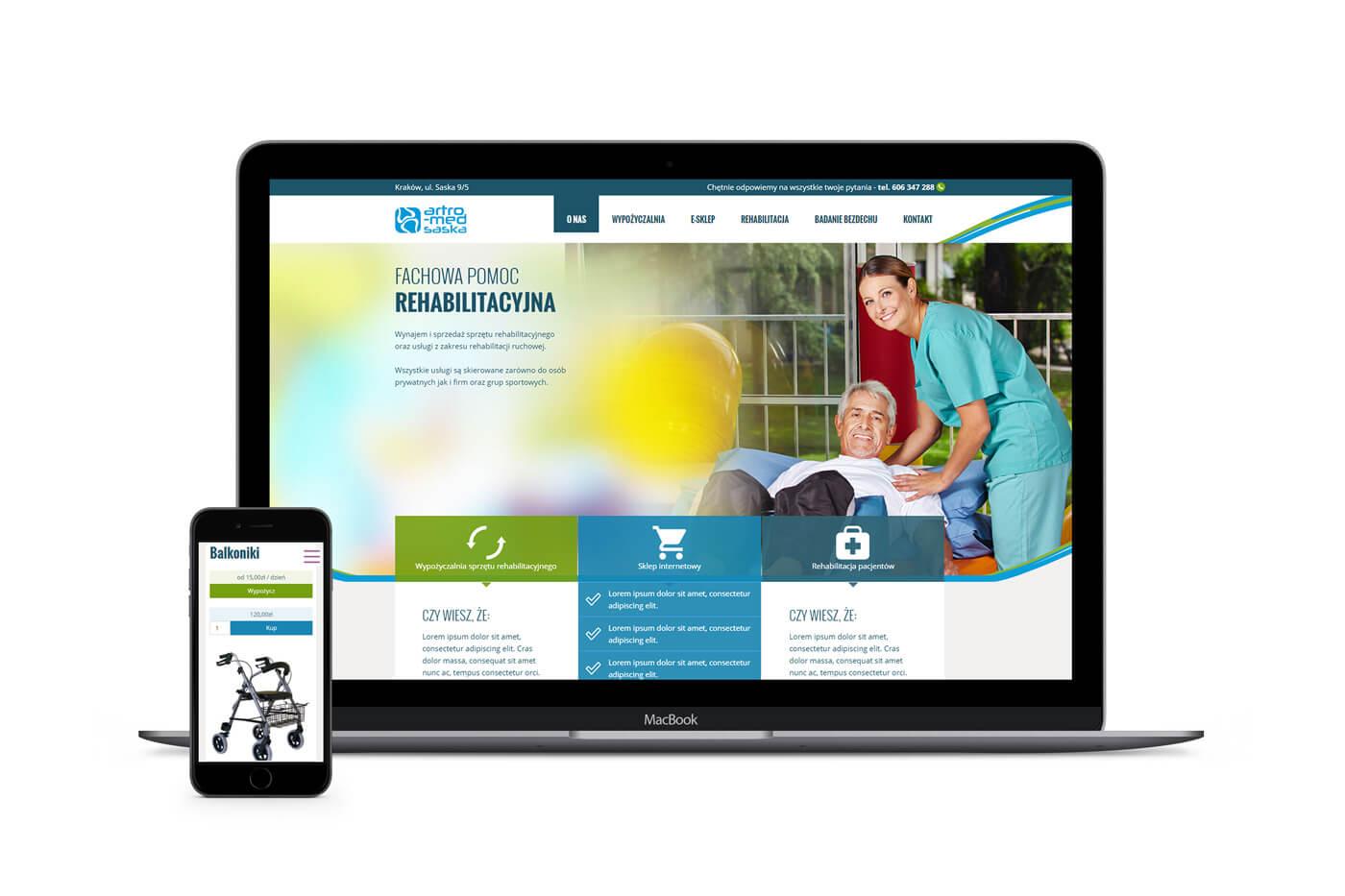 Strona internetowa w technologii RWD - e-commerce