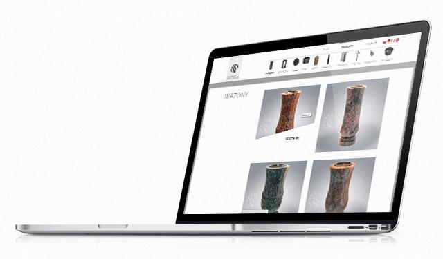 Mockup strony internetowej na laptopie