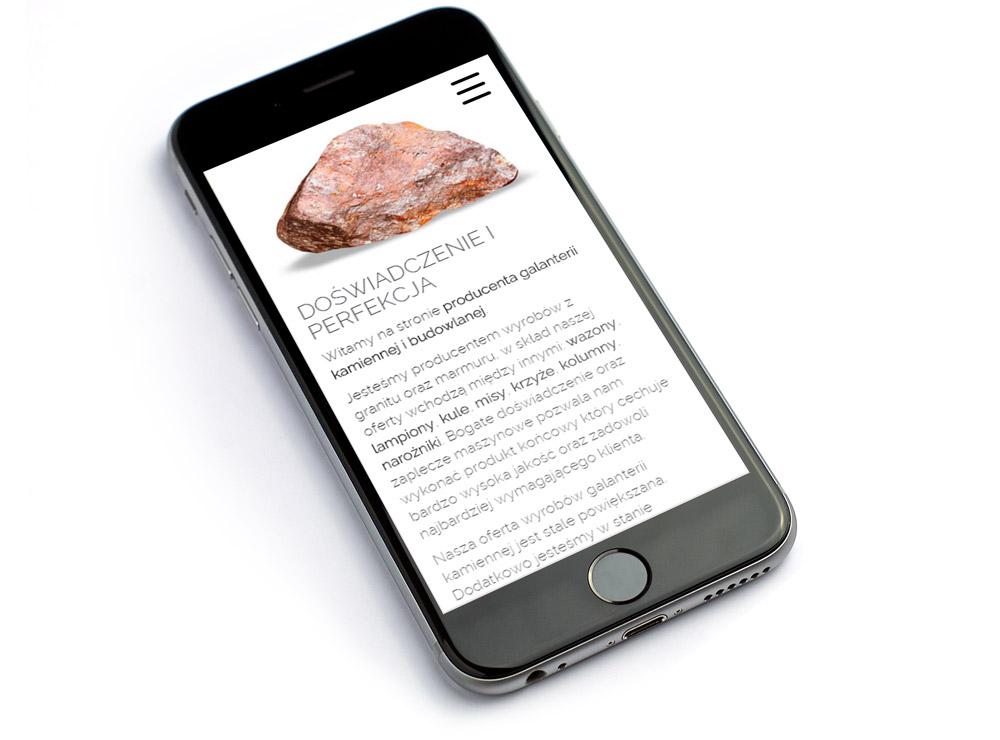 Mockup strony internetowej na smarthponie