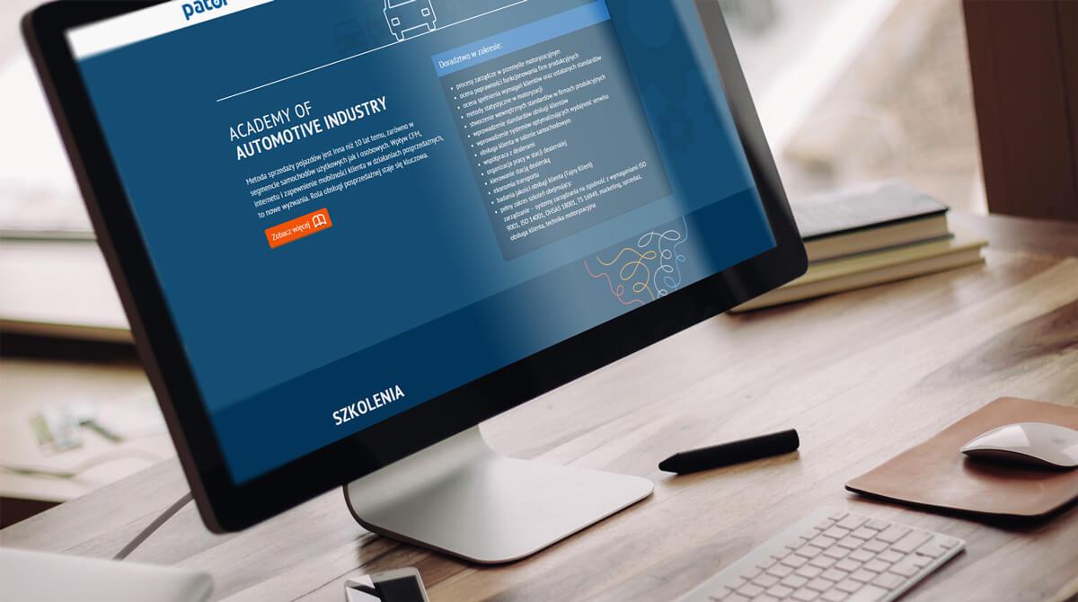 Pator - strona internetowa w stylu material design