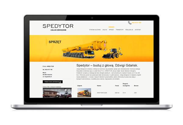 Strona internetowa z RWD dla firmy Spedytor