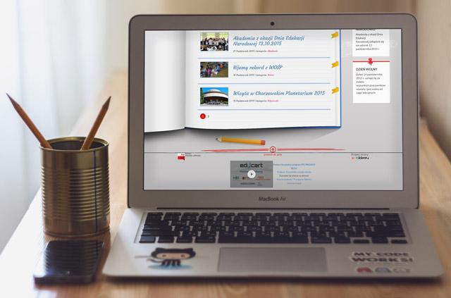 Serwis internetowy dla Szkoły Podstawowej nr 34 z Chorzowa