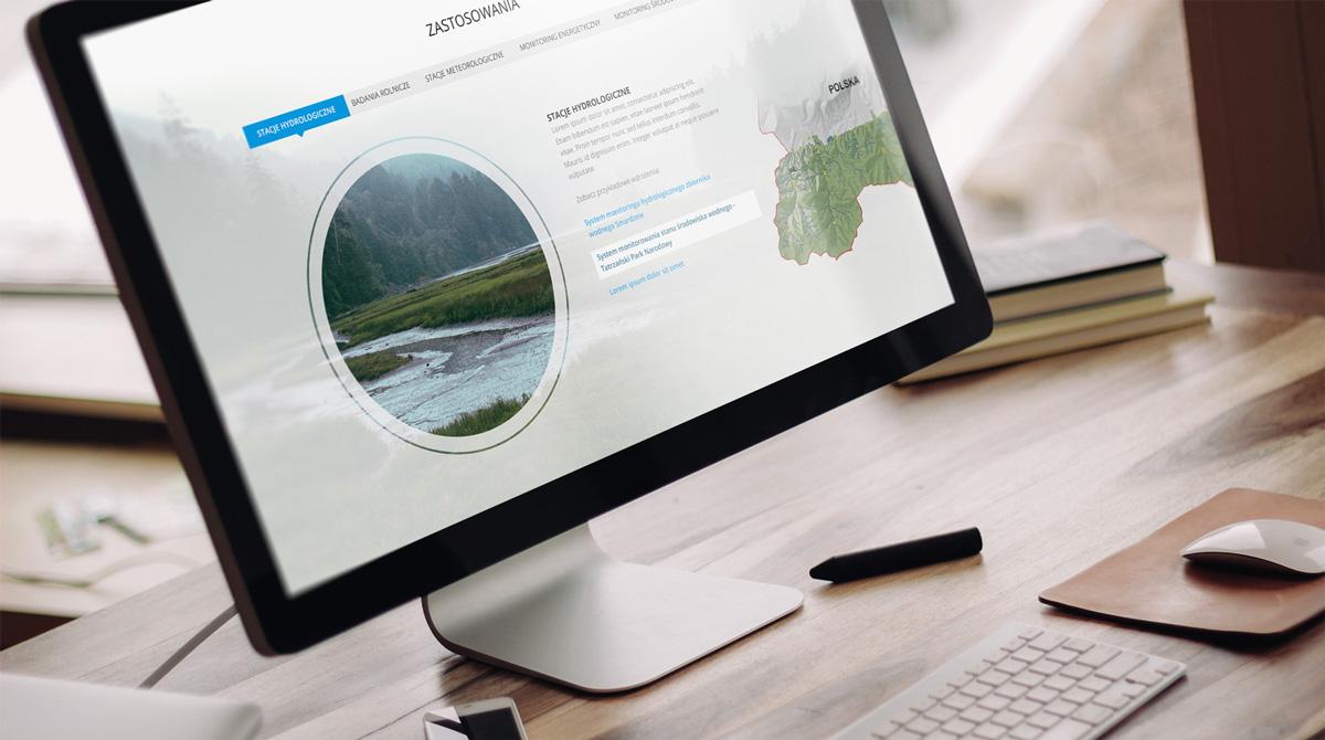Strona internetowa typu long page z animacjami dla firmy technika IT Gliwice