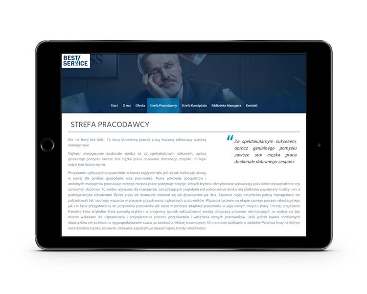 Best Service - nowa strona internetowa dla biznesu