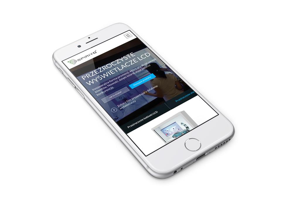 Spiriyo - strona w wersji mobilnej na telefonie