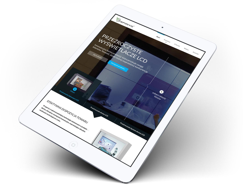 Spiriyo - responsywna strona internetowa z flimem w nagłówku