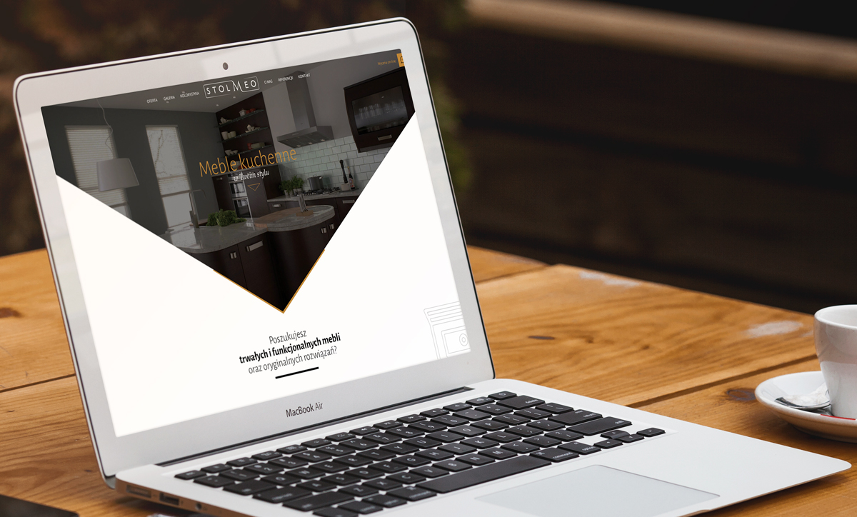 Stolmeo - wizualizacja storny internetowej producenta mebli