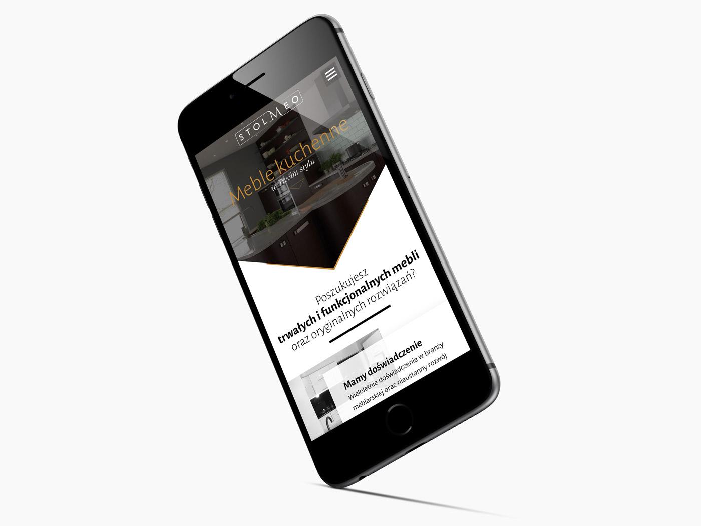 Wersja mobilna strony internetowej dla Stolmeo - producenta mebli kuchennych