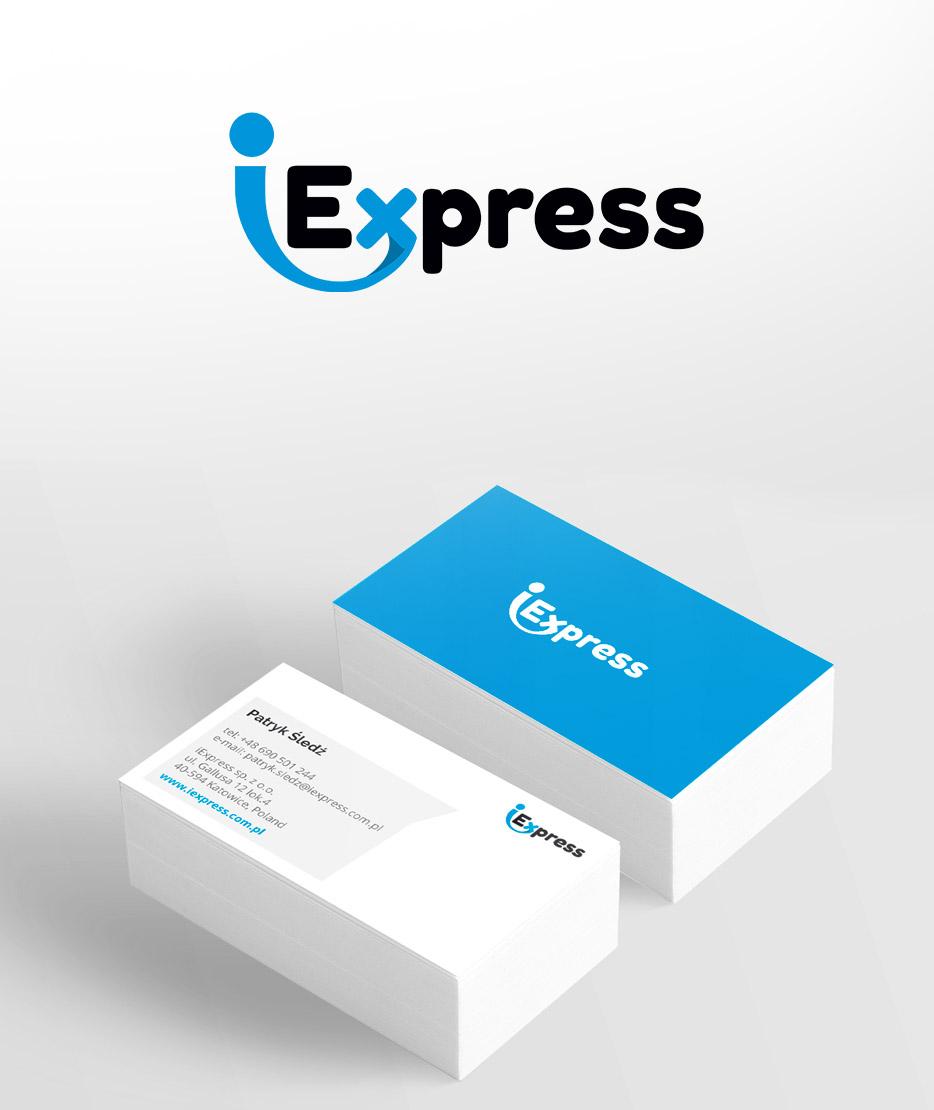 iExpress - identyfikacja wizualna logo firmy spedycyjnej logistycznej