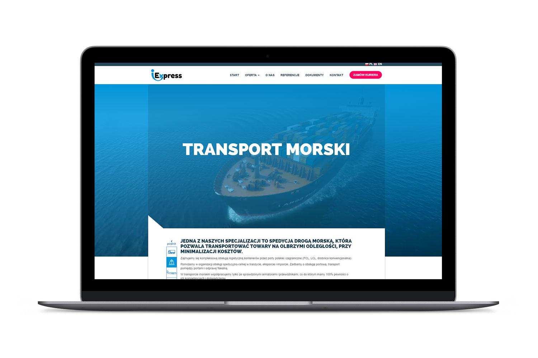 Widok podstrony strony www iExpress