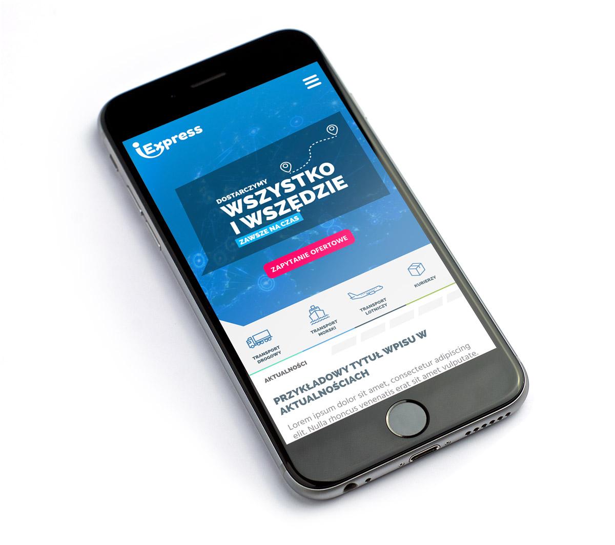 iExpress - mobilna wersja nowej strony internetowej