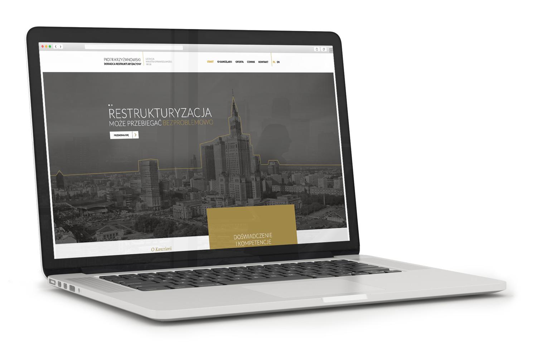 Doradca restrukturyzacyjny - projekt nowej strony internetowej