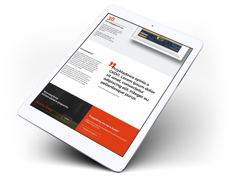 CKDO - strona internetowa - wizualizacja projektu strony głównej