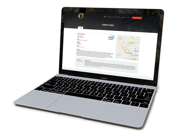 Certyfikat Konsumencki Dobra Opinia - mockup na komputerze