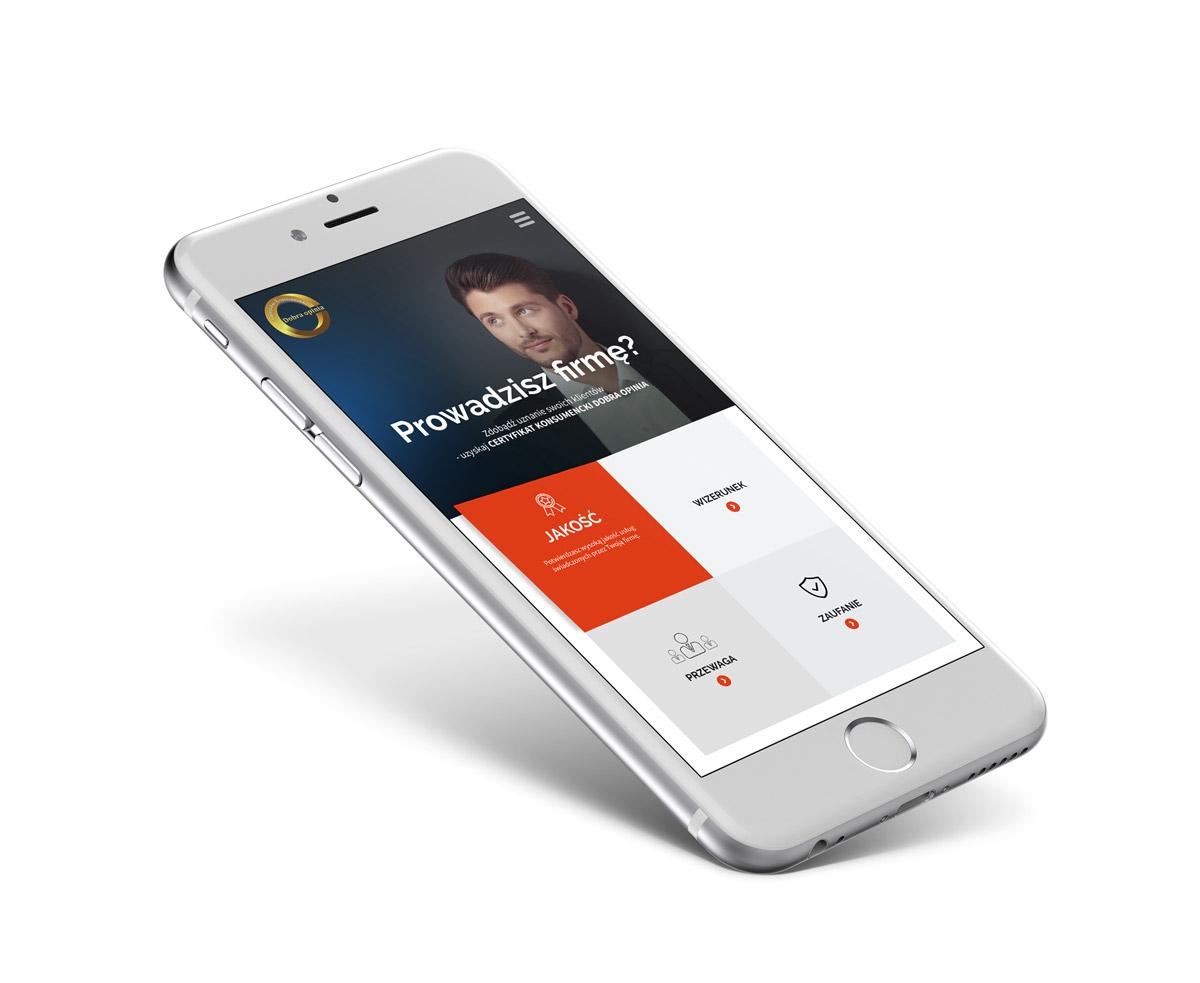 CKDO - strona internetowa na telefonie