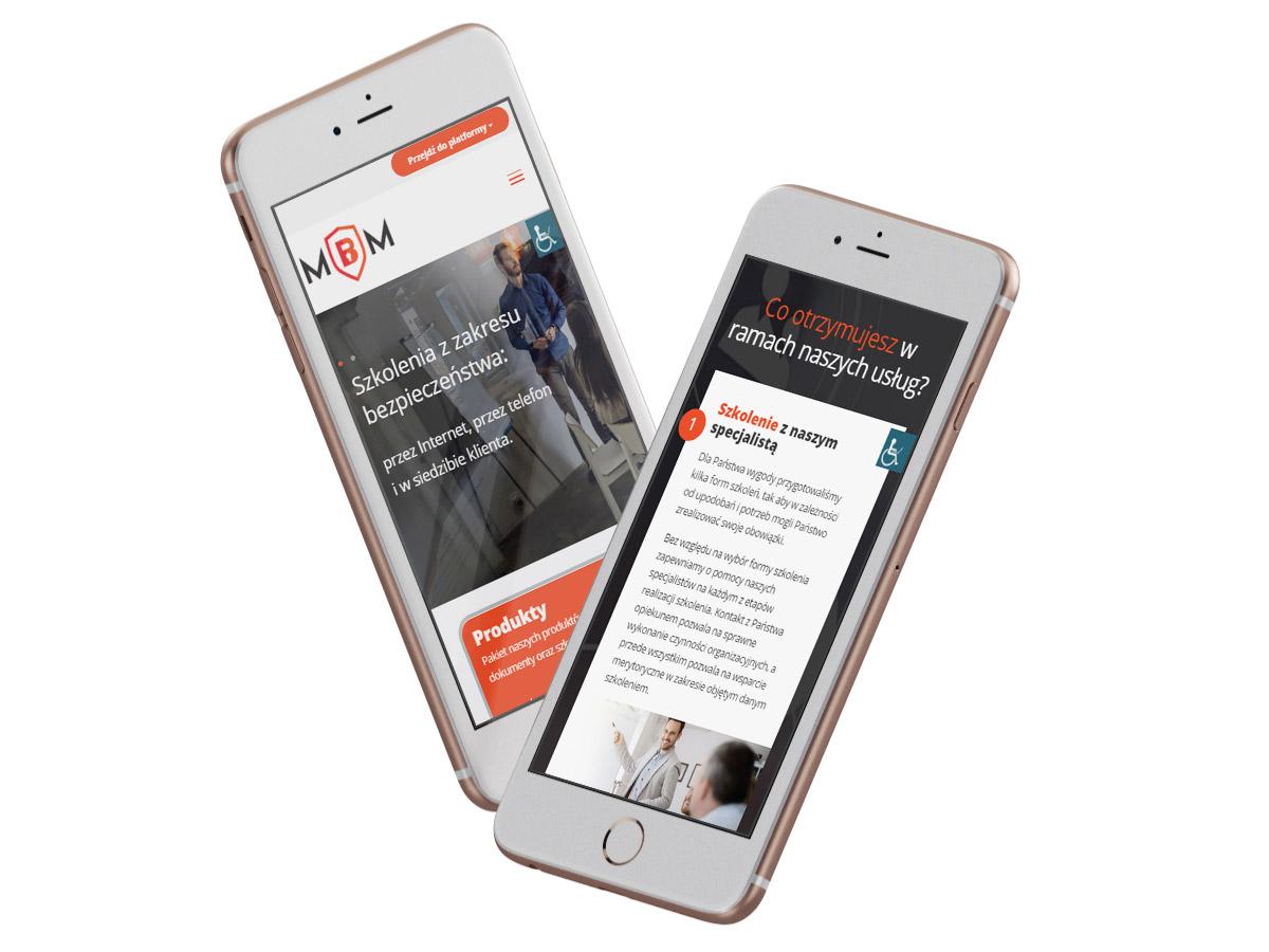 MBM - strona internetowa na urządzeniach mobilnych