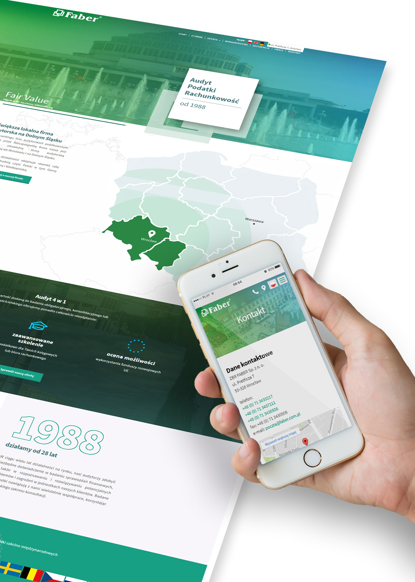 Mockup strona internetowa - projekt layout