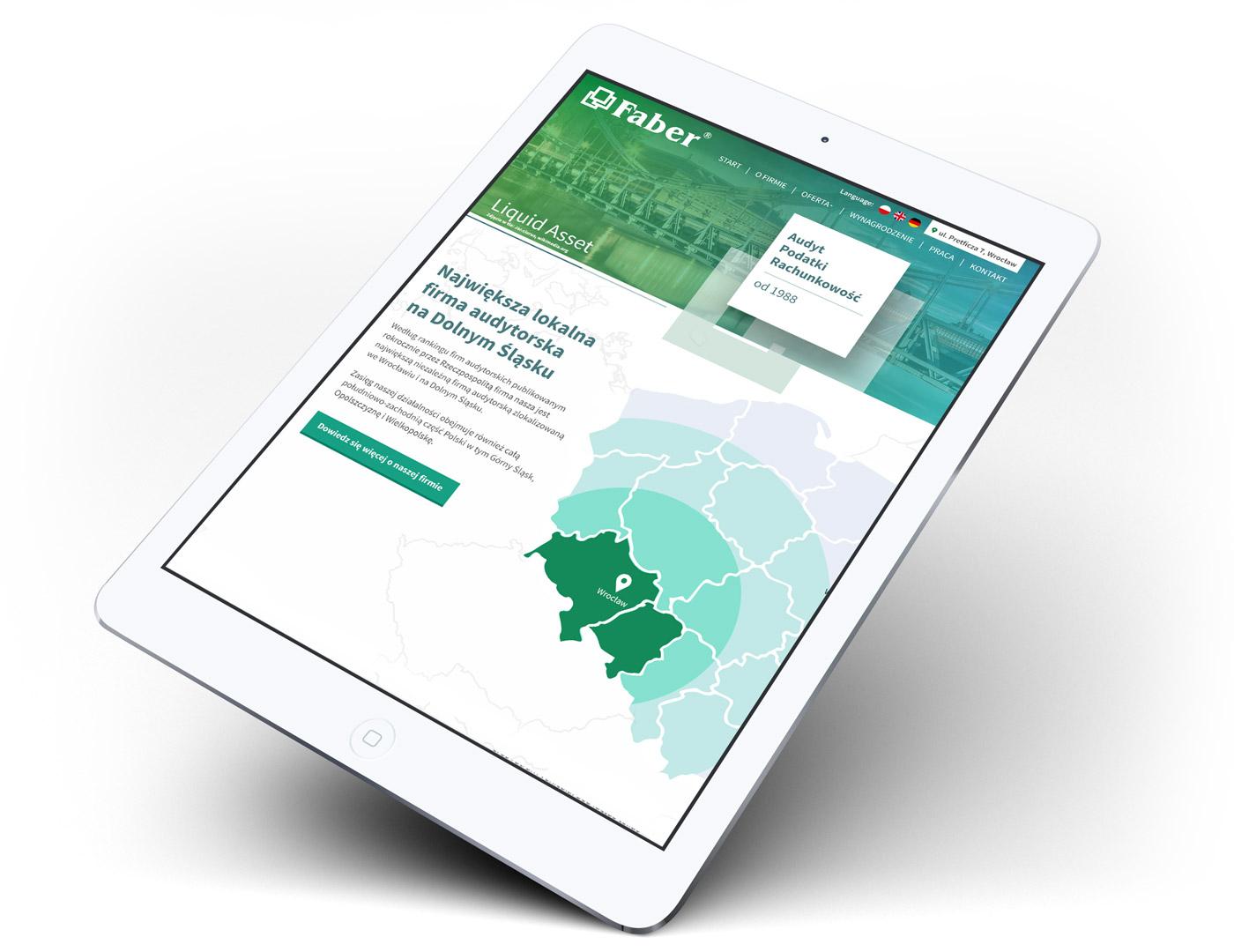 Faber - responsywna strona www w RWD, webdesign finanse