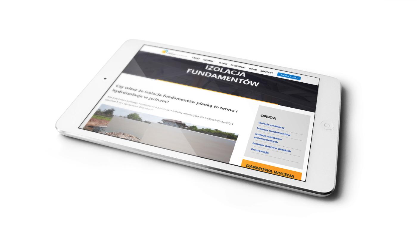 Ekopur - odświeżona strona internetowa, wizualizacja na tablecie