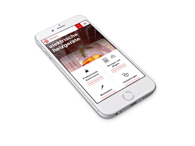 Helkra - strona internetowa w wersji mobilnej - projekt