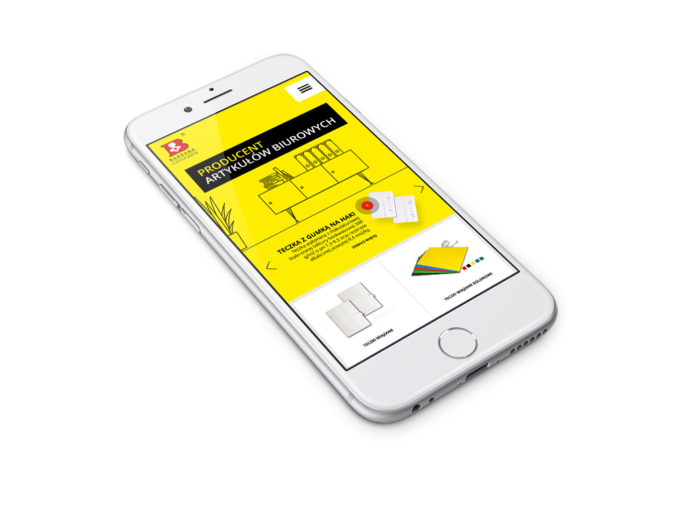Mobilna, responsywna wersja strony internetowej firmy Barbara Sp. J. z Człuchowa