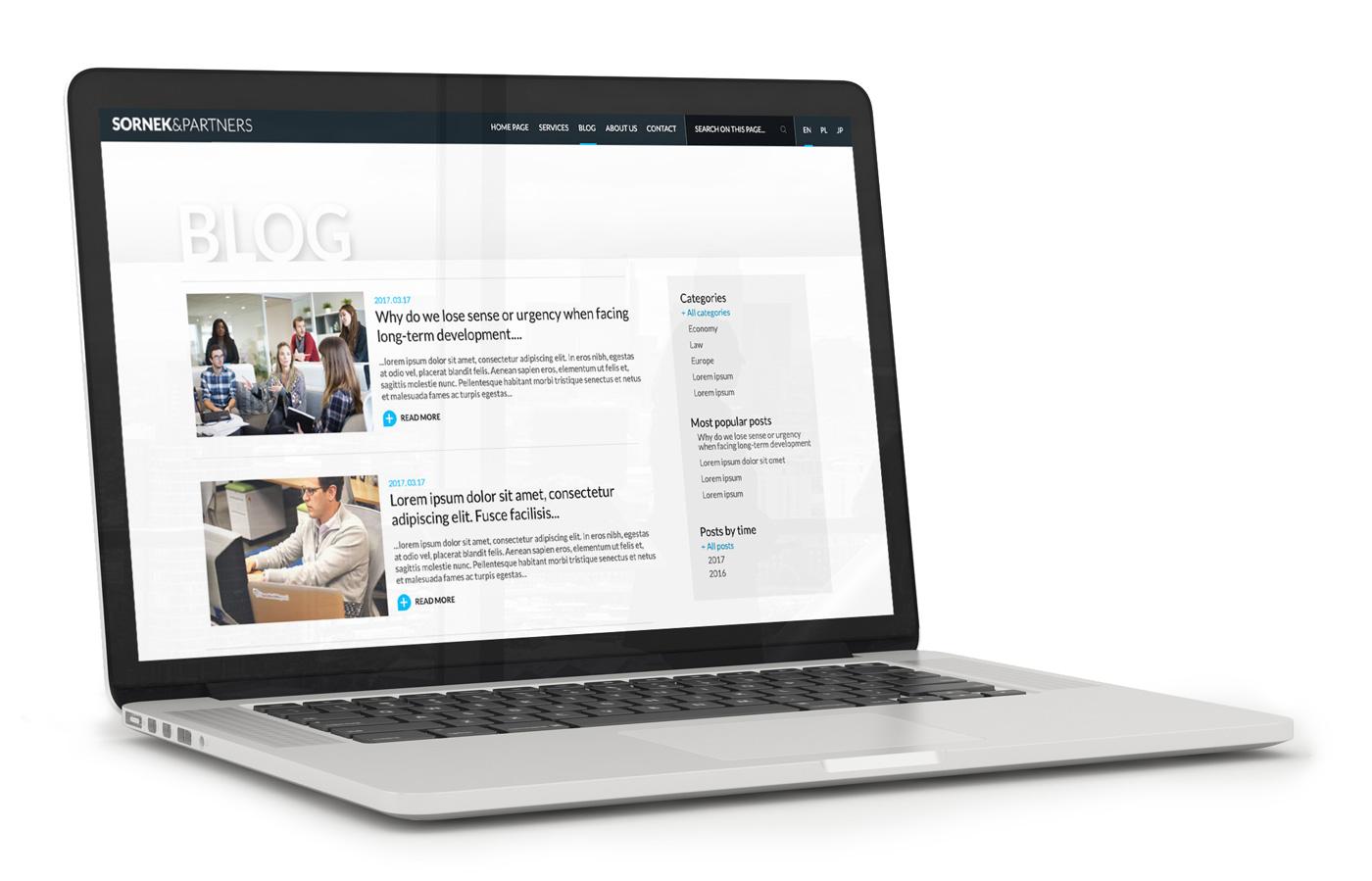 Sornek & Partners - projekt strony internetowej
