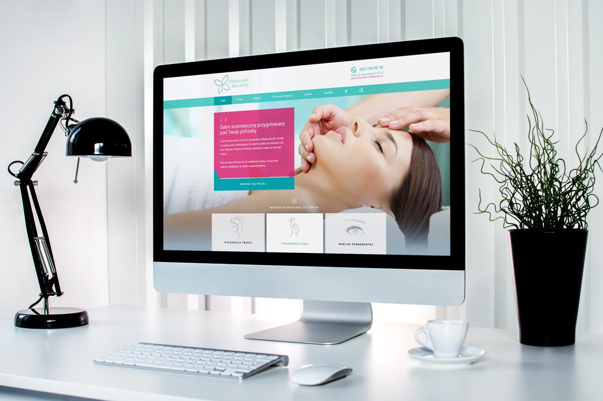 """Wizualizacja nowej strony internetowej dla salonu kosmetycznego """"Podarunek dla urody"""""""