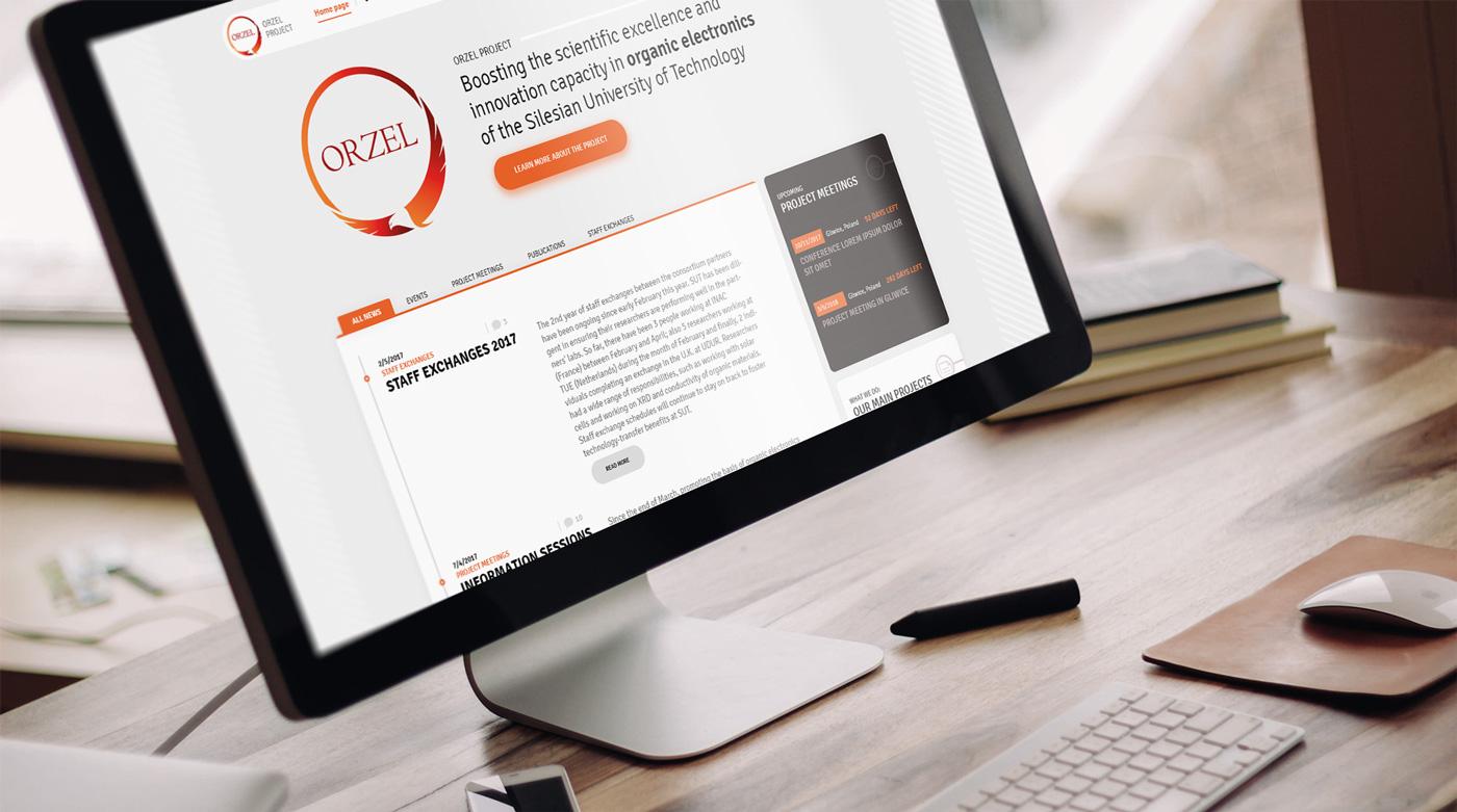 Strona internetowa dla międzynaordowego programu badawczego ORZEL Project współorganizowanego przez Politechnikę Śląską, Eindhoven University of Technology, Institute for nanosciences and cryogenics, University of Durkham