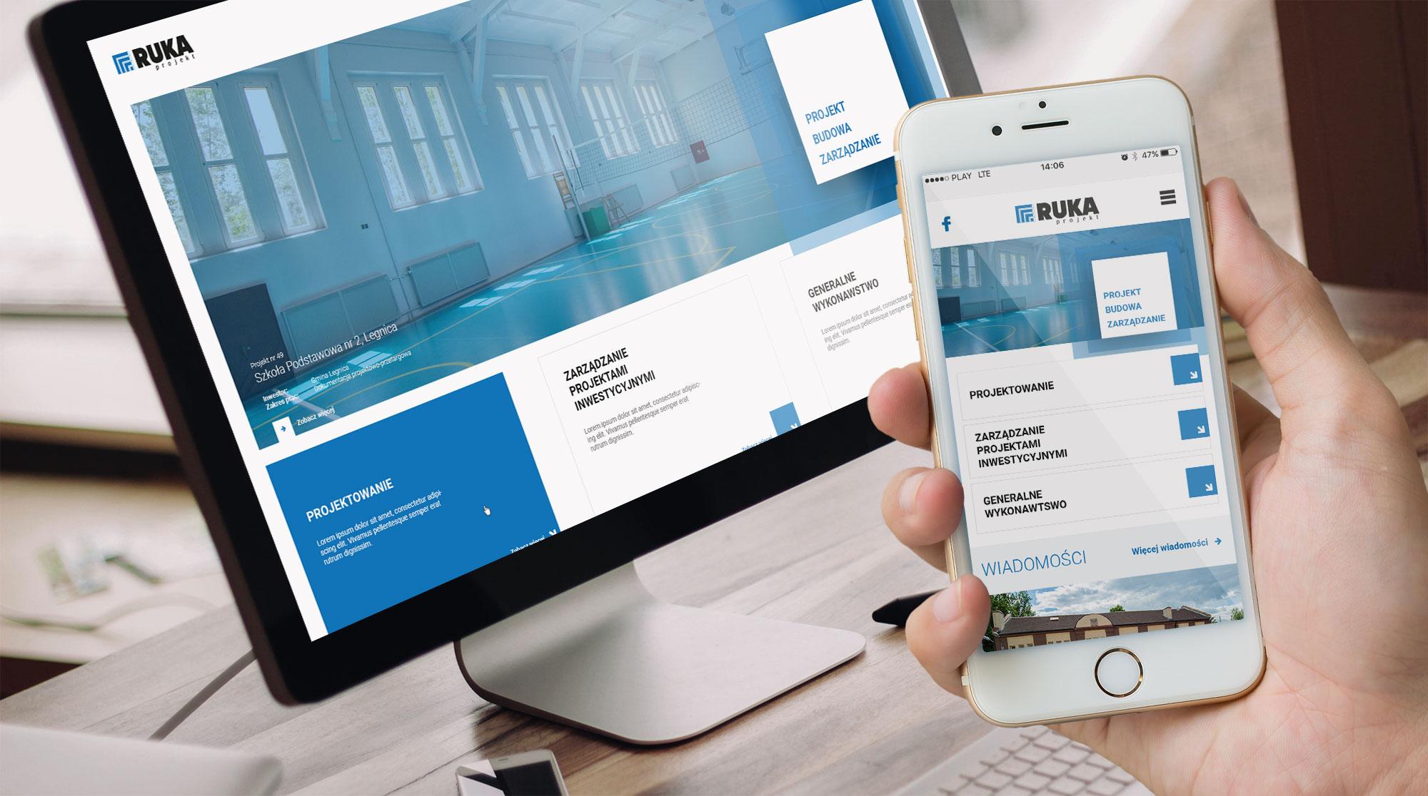 RUKA Projekt - usługi inżynierskie - projekt strony internetowej