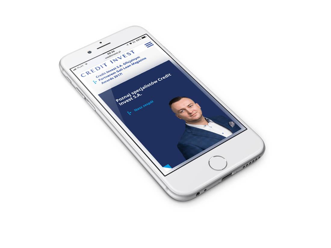 Credit Invest - rwd na smartphonie