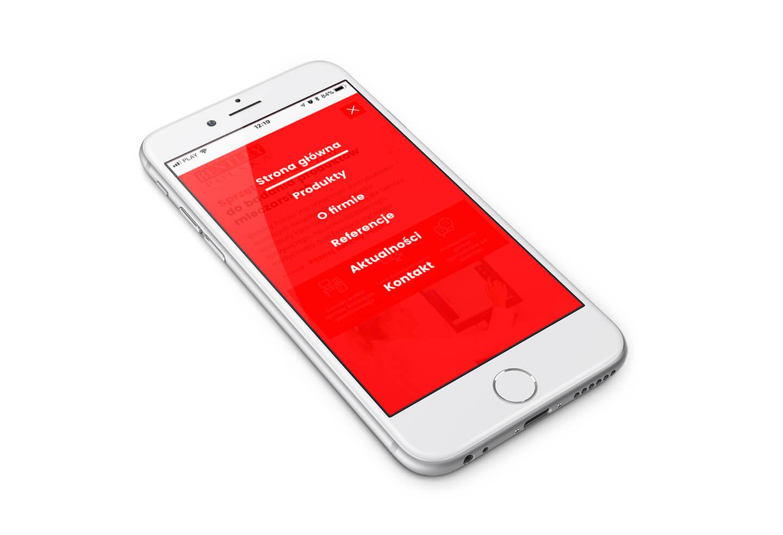 Widok menu mobilnego na nowoczesnej stronie internetowej Bentley Polska