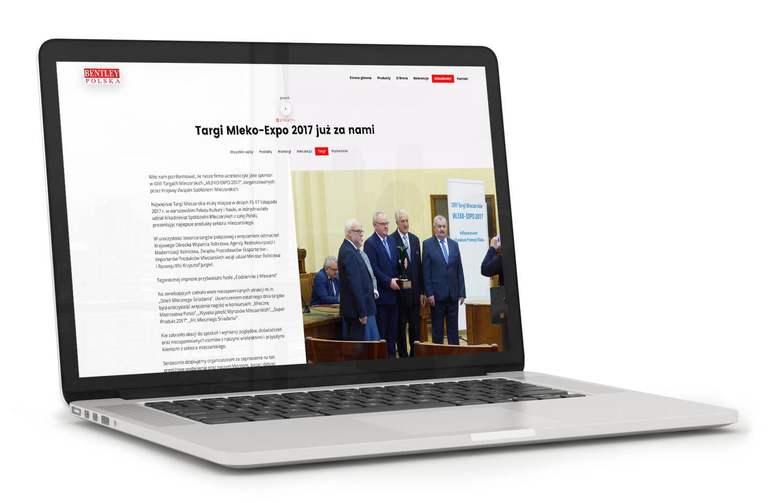 Bentley Polska - wizualizacja projektu strony internetowej