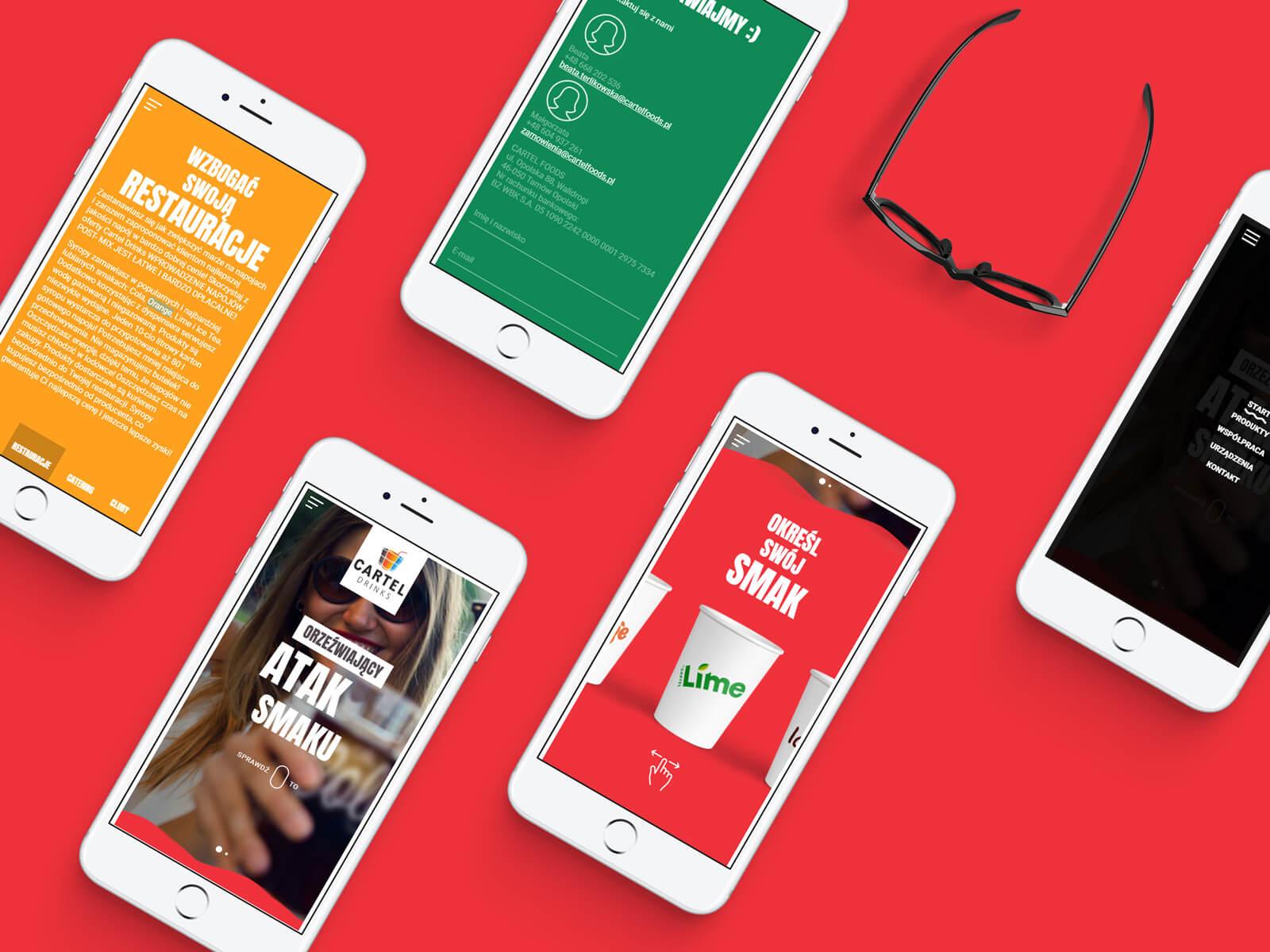 Cartel Drinks - strona internetowa producenta napojów dla branży gastronomicznej