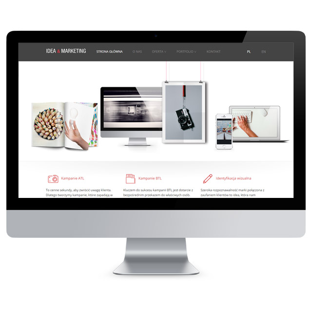 Realizacja serwisu internetowego dla firmy Idea Marketing