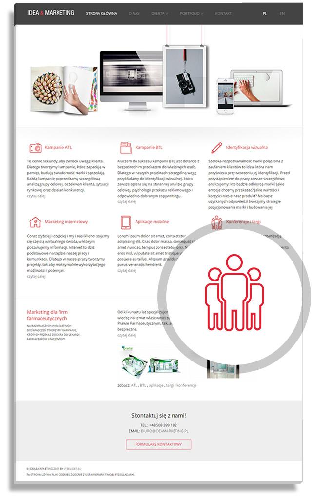 Projekt wyglądu strony internetowej