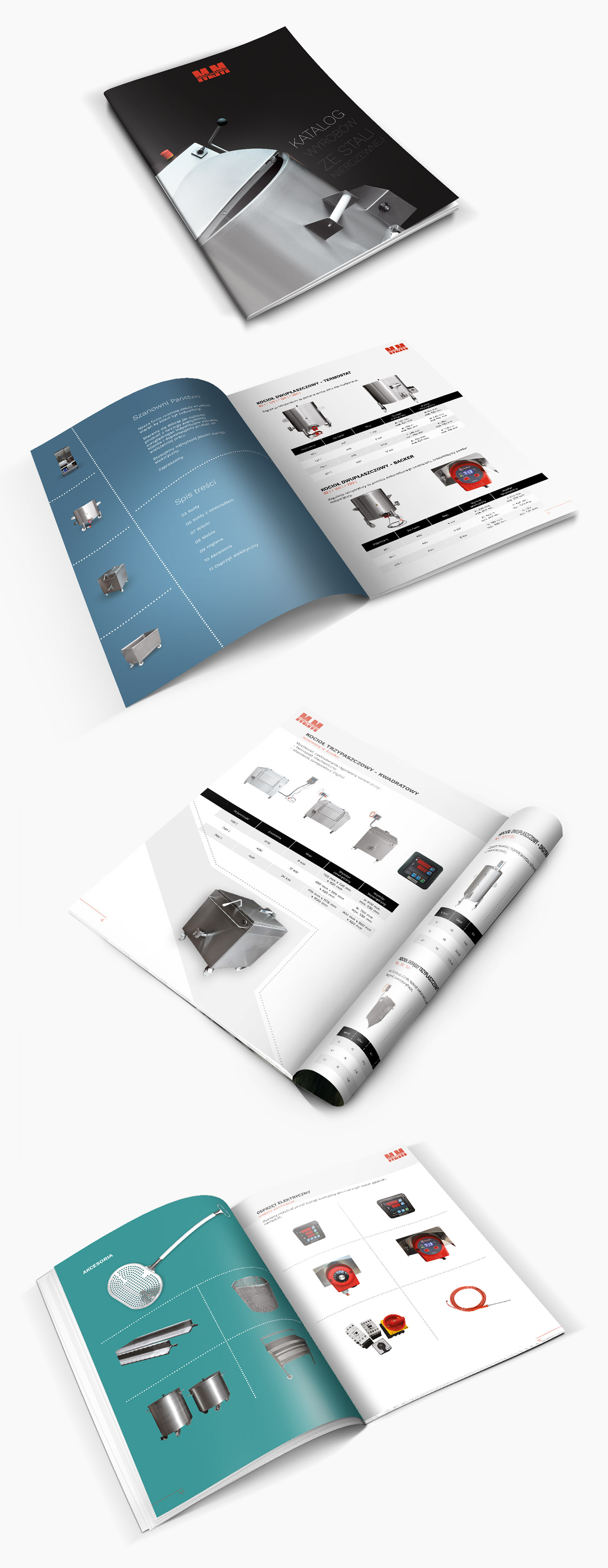 MM Stal - projekt broszury katalogu produktów w ramach działu poligrafii Weblider
