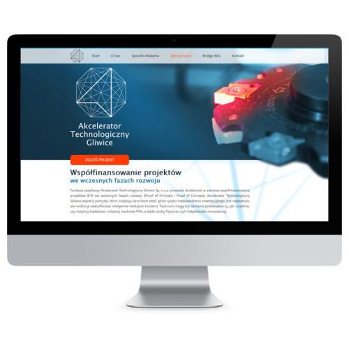 Wizualizacja strony internetowej Akceleratora