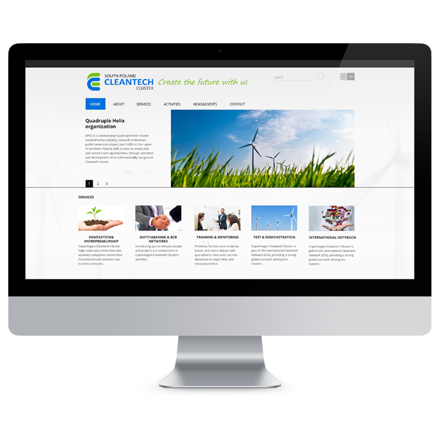 Cleantech - webdesign