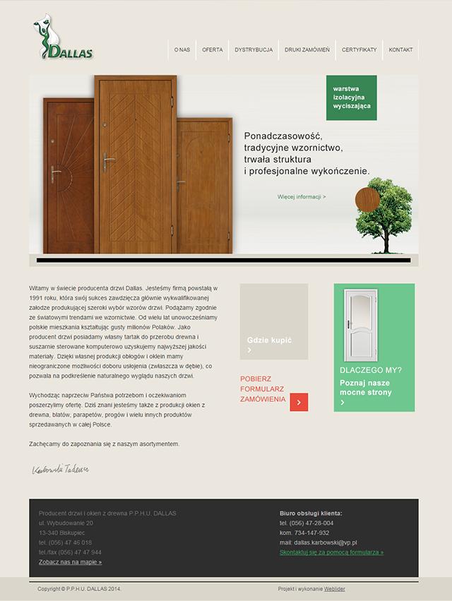 Strona internetowa producenta drzwi