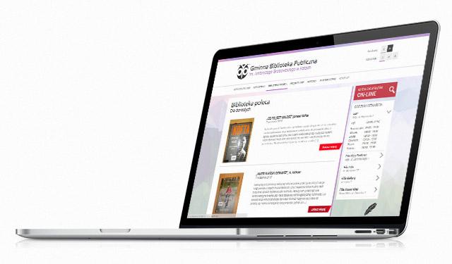 Strona internetowa - wizualizacja na laptopie