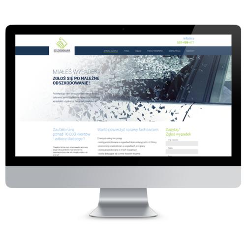 Strona internetowa dla serwisu e-odszkodowania
