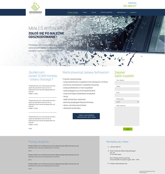 Webdesign dla serwisu e-odszkodowania