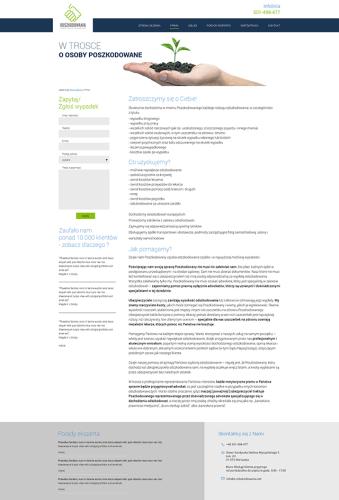 Projekt podstrony na stronie www e-odszkodowania