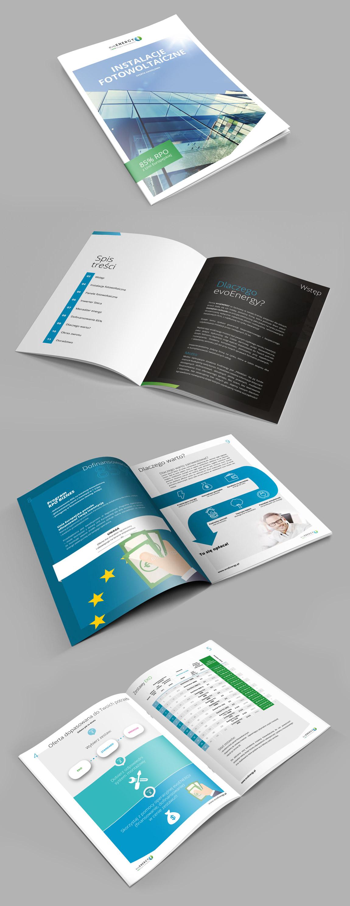 evoEnergy - broszura drukowana, poligrafia