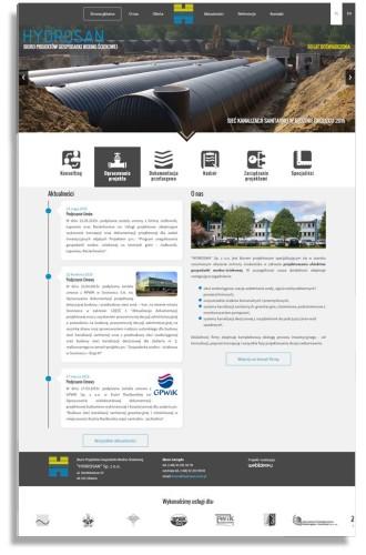 Projektowanie strony internetowej Hydrosan